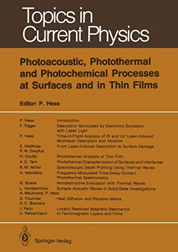 9783540517030: Photoacoustic, Photothermal and Photochemical Processes at Surfaces and in Thin Films (Topics in Current Physics)