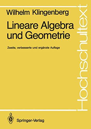 9783540517368: Lineare Algebra Und Geometrie (Hochschultext) (German Edition)