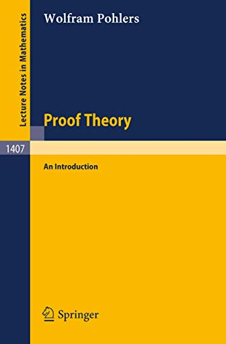 9783540518426: Proof Theory: An Introduction (Lecture Notes in Mathematics)