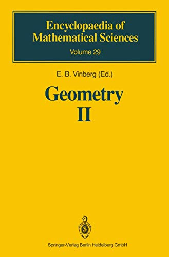 9783540520009: Geometry II: Spaces of Constant Curvature (Encyclopaedia of Mathematical Sciences) (v. 2)
