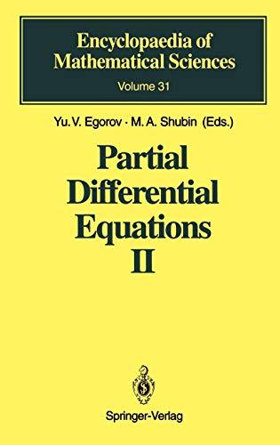 Partial differential equations II [Dec 01, 1994] Egorov, Yu.V.; Komech, A.I.; Shubin, M. A.; Sinha,...