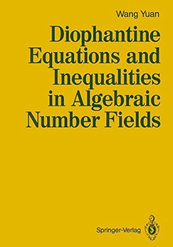 9783540520191: Diophantine Equations and Inequalities in Algebraic Number Fields