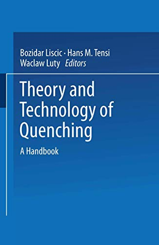 9783540520405: Theory and Technology of Quenching: A Handbook