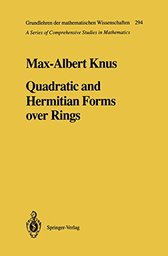 9783540521174: Quadratic and Hermitian Forms over Rings (Grundlehren der mathematischen Wissenschaften)