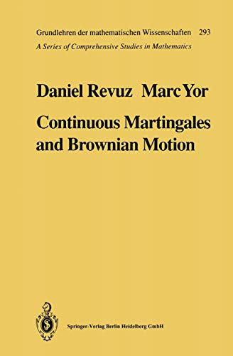 9783540521679: Continuous Martingales and Brownian Motion