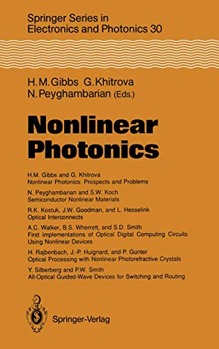 9783540521945: Nonlinear Photonics (Springer Series in Electronics and Photonics)