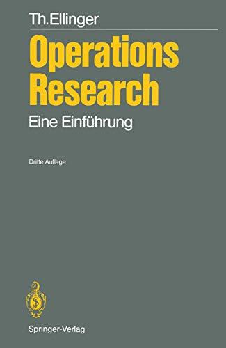 9783540524335: Operations Research: Eine Einf Hrung (German Edition)