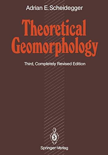 9783540525103: Theoretical Geomorphology