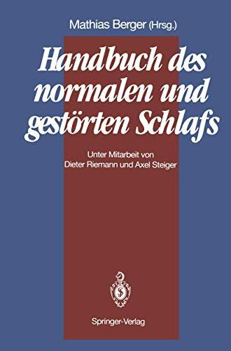9783540526230: Handbuch des normalen und gestörten Schlafs