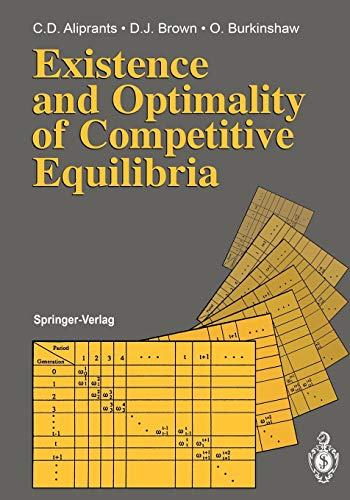 9783540528661: Existence and Optimality of Competitive Equilibria