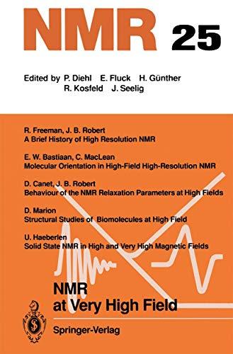 NMR at Very High Field (NMR Basic: n/a