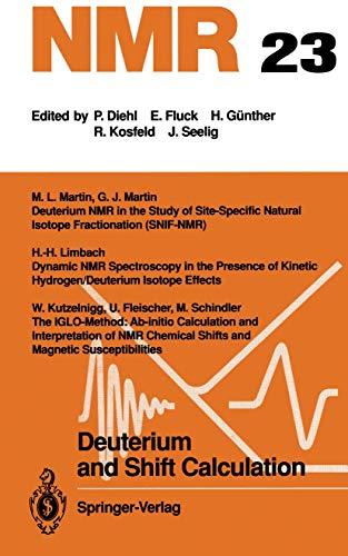 Deuterium and Shift Calculation (NMR Basic Principles: Fleischer, U., Kutzelnigg,