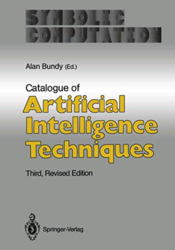 9783540529590: Catalogue of Artificial Intelligence Techniques (Symbolic Computation / Artificial Intelligence)