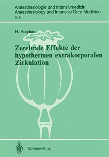9783540529712: Zerebrale Effekte der hypothermen extrakorporalen Zirkulation (Anaesthesiologie und Intensivmedizin Anaesthesiology and Intensive Care Medicine) (German Edition)