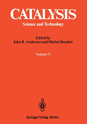 9783540529729: Catalysis: Science and Technology (Vol 9)