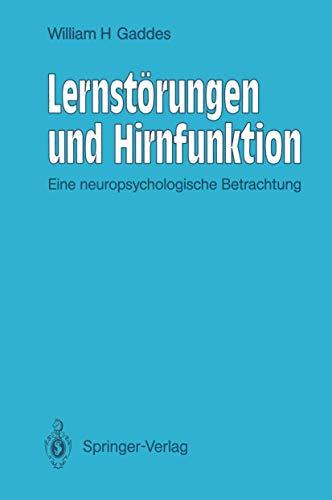 9783540530442: Lernstörungen und Hirnfunktion: Eine neuropsychologische Betrachtung