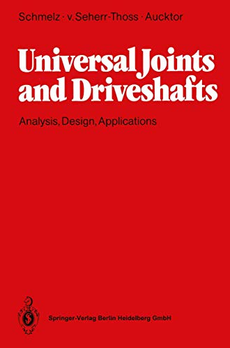 9783540533146: Universal Joints and Driveshafts: Analysis, Design, Applications