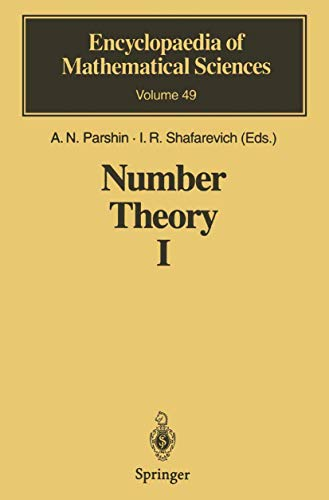 9783540533849: Introduction to Modern Number Theory: Fundamental Problems, Ideas and Theories (Encyclopaedia of Mathematical Sciences) (No.1)