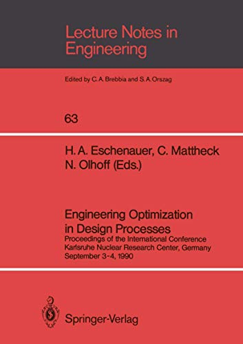 Engineering Optimization in Design Processes: Proceedings of the International Conference, ...