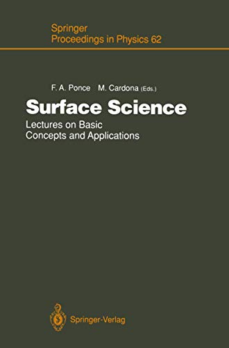 Surface Science: Lectures on Basic Concepts and: Manuel Cardona, Fernando