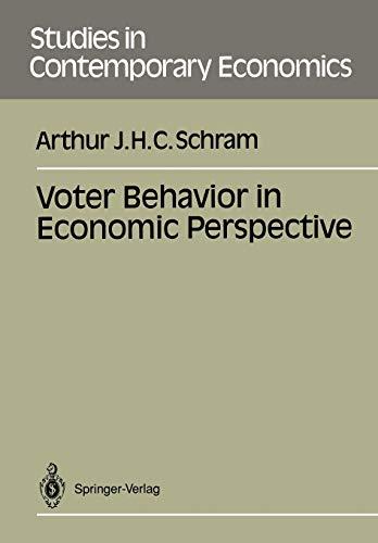 9783540536505: Voter Behavior in Economics Perspective (Studies in Contemporary Economics)