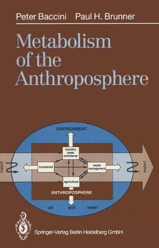 9783540537786 metabolism of the anthroposphere abebooks peter
