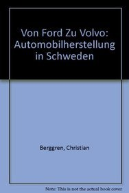 9783540540045: Von Ford zu Volvo: Automobilherstellung in Schweden (German Edition)