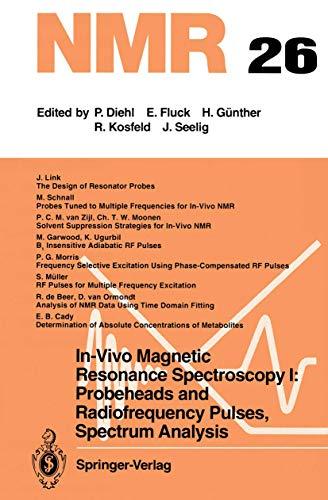 9783540545477 In Vivo Magnetic Resonance Spectroscopy I