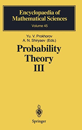 9783540546870: Probability Theory III: Stochastic Calculus (Encyclopaedia of Mathematical Sciences) (No. 3)