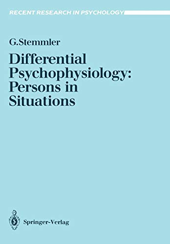9783540548003: Differential Psychophysiology: Persons in Situations (Recent Research in Psychology)
