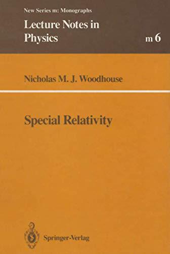 9783540550495: Special Relativity