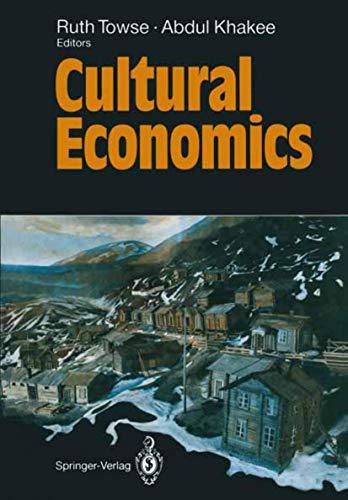 9783540551997: Cultural Economics
