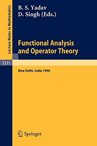 Functional Analysis and Operator Theory: Proceedings of