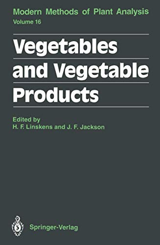 9783540558439: Vegetables and Vegetable Products (Molecular Methods of Plant Analysis)