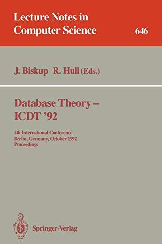 Database Theory - ICDT 92: 4th International