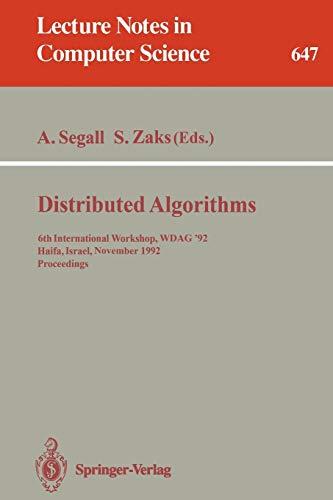 Distributed Algorithms: 6th International Workshop, WDAG 92,
