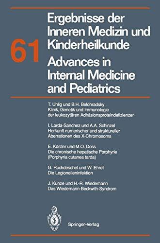 9783540564942: Ergebnisse der Inneren Medizin und Kinderheilkunde / Advances in Internal Medicine and Pediatrics: Neue Folge (Ergebnisse der Inneren Medizin und ... Advances in Internal Medicine and Pediatrics)