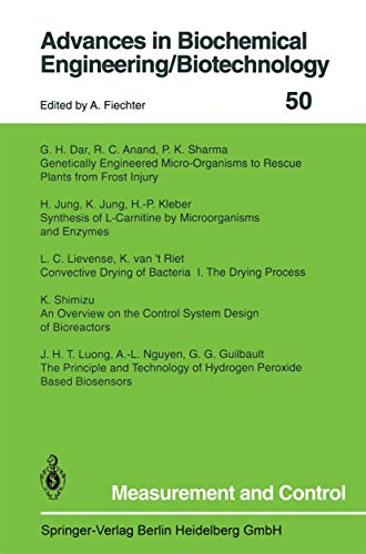 Measurement and Control (Advances in Biochemical Engineering: A. Fiechter (Editor),