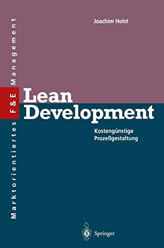 9783540575207: Lean Development (Innovations- Und Technologiemanagement)