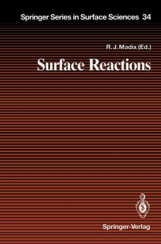9783540576051: Surface Reactions (Springer Series in Surface Sciences)