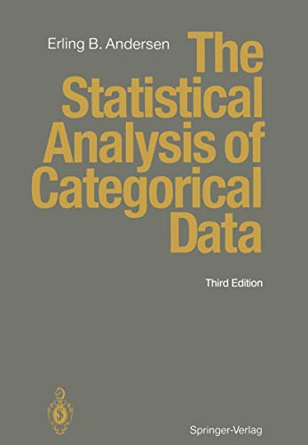 9783540576969: The Statistical Analysis of Categorical Data