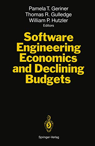 9783540578086: Software Engineering Economics and Declining Budgets