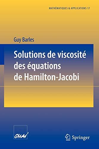 9783540584223: Solutions de viscosité des équations de Hamilton-Jacobi (Mathématiques et Applications) (French Edition)