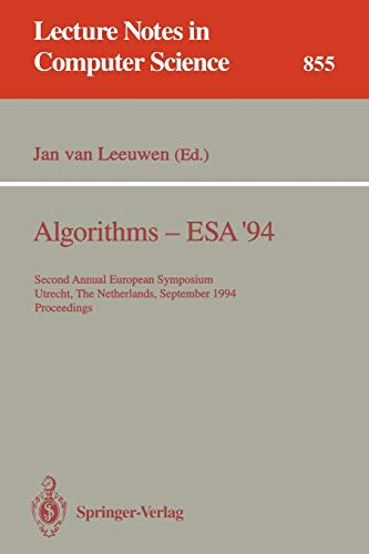 Algorithms - ESA '94: Second Annual European: Leeuwen, Jan van