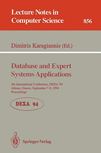 Database and Expert Systems Applications: 5th International: Karagiannis, Dimitris