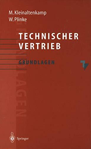 Technischer Vertrieb: Grundlagen [Sep 06, 1995] Kleinaltenkamp,