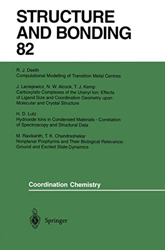 Coordination Chemistry : Structure and Bonding #82: N.W. Alcock, T.K.