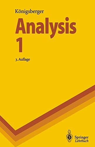 9783540588764: Analysis 1 (Springer-Lehrbuch) (German Edition)