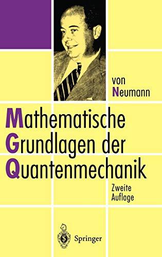 9783540592075: Mathematische Grundlagen der Quantenmechanik (German Edition)