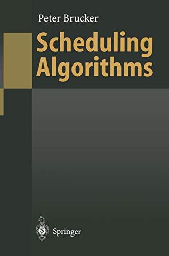 9783540600879: Scheduling Algorithms